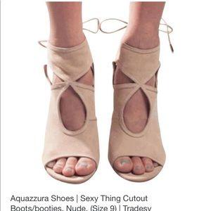 Aquazzara Tan sexy thing cut out shoe